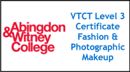 Form 011 - VTCT Level 3 Cert Fashion & Photographic Make-up