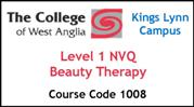 Form 001 - Level 1 NVQ Beauty Therapy (Course Code 1008)
