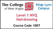 Form 002 - Level 1 NVQ Hairdressing (Course Code 1007)