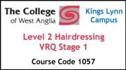 Form 003 - Level 2 Hairdressing VRQ Stage 1 (Course Code 1057)