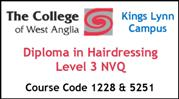 Form 005 - Diploma in Hairdressing Level 3 NVQ (Course Code 1228 and 5251)
