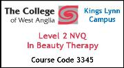Form 006 - Level 2 NVQ in Beauty Therapy (Course Code 3345)