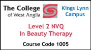 Form 007 - Level 2 NVQ in Beauty Therapy (Course Code 1005)