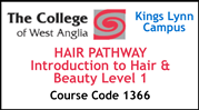 Form 002 - Hair Pathway - Introduction to Hair and Beauty Level 1 (Course Code 1366)