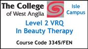Form 005 - Level 2 VRQ in Beauty Therapy (Course Code 3345FEN)